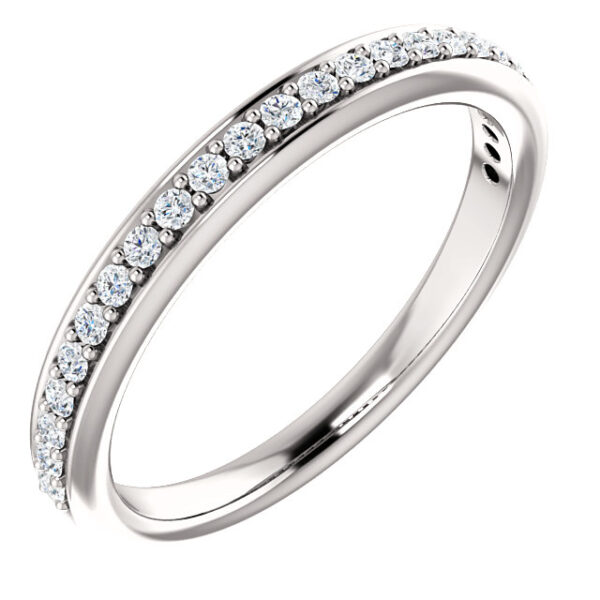Classic delicate round wedding band.
