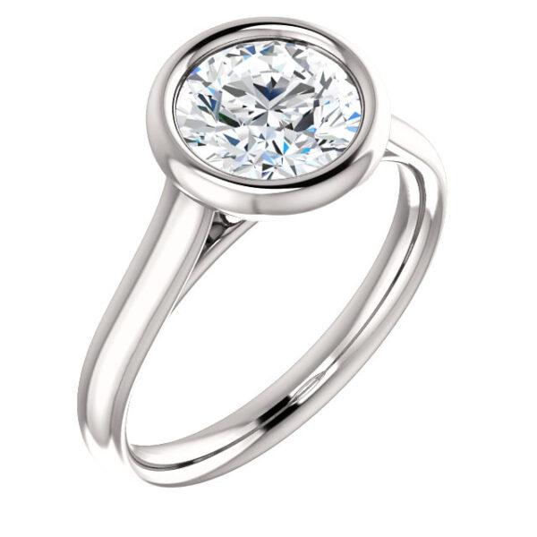 Classic bezel set ring.