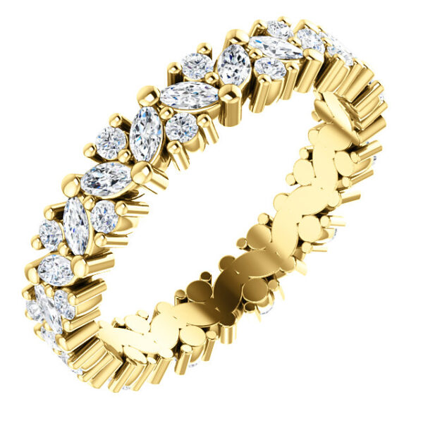 Statement floral inspired eternity band.