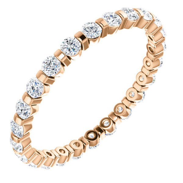 Channel set eternity band.