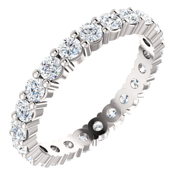 Classic round eternity band.
