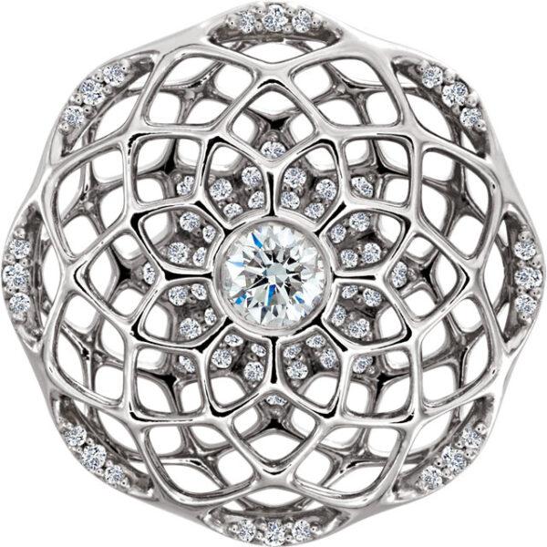 1/4 CTW Diamond Cage Pendant