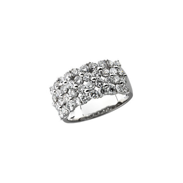 4 Row 2CTW Diamond Ring